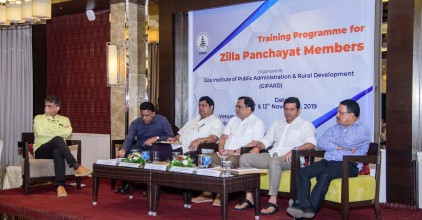 Interaction and sharing of information by panellists for the Training Programme for Zilla Panchayat Members of North & South Goa