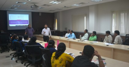 Shri. Prasidh Naik, BDO-Mormugao interacting with the participants for Training Programme on MIS (PES Aplications-PRIA Soft, Action Soft)-South Goa (2